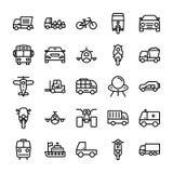 Линия значки 6 автомобиля вектора Стоковые Фото