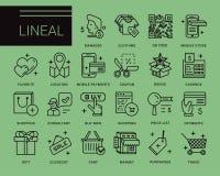Линия значки вектора в современном стиле Стоковое Фото