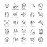 Линия значки 32 вектора руководства бизнесом и роста бесплатная иллюстрация