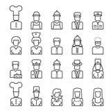 Линия значки воплощения людей Стоковые Изображения RF