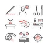 Линия значки общей хирургии Отдел больницы Медицинский центр Знак вектора для графиков сети стоковое фото