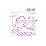 Линия значки с погодой символа Стоковая Фотография