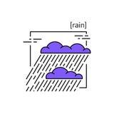 Линия значки с погодой символа Стоковое фото RF