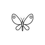 Линия значок бабочки, элементы пасхи весны иллюстрация штока