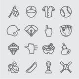 Линия значок бейсбола Стоковое фото RF