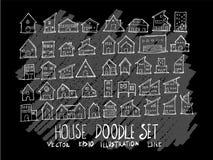 Линия значок вектора doodle эскиза руки вычерченная элемента здания установила o стоковое фото rf