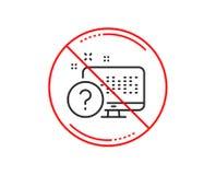 Линия значок вопросительного знака Онлайн знак теста викторины вектор иллюстрация штока
