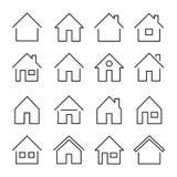 Линия значок дома стоковое изображение