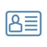 Линия значок карточки ID Стоковые Изображения