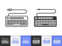 Линия значок клавиатуры простая черная вектора бесплатная иллюстрация