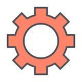 Линия значок колеса шестерни Знак Cog Варианты, предпочтения и символ установок вектор Стоковое фото RF