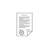 Линия значок контракта Стоковые Изображения RF