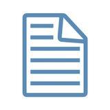 Линия значок документа Стоковая Фотография
