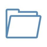 Линия значок папки Стоковое Фото
