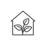 Линия значок парника, знак вектора плана, линейная пиктограмма стиля изолированная на белизне Символ, иллюстрация логотипа Editab иллюстрация штока
