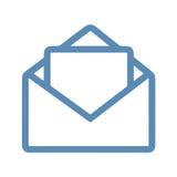 Линия значок почты Стоковые Изображения