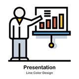Линия значок представления цвета иллюстрация вектора