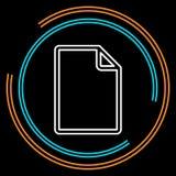 Линия значок простого документа тонкая вектора бесплатная иллюстрация
