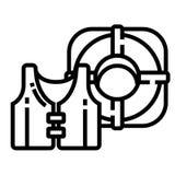 Линия значок спасателя бесплатная иллюстрация