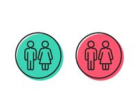 Линия значок уборного Знак туалета Wc вектор бесплатная иллюстрация