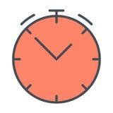 Линия значок часов E r Стоковые Фото