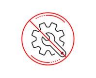 Линия значок Customisation Установки или знак редактирования вектор иллюстрация вектора