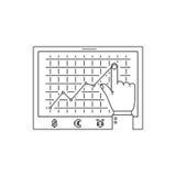 Линия диаграммы значок роста Стоковые Фотографии RF