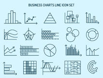 Линия диаграмм значки дела иллюстрация штока