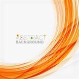 Линия дизайн оранжевой и зеленой волны, eco природы Стоковое Изображение