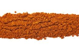 Линия изолированного красного перца cayen Стоковые Фото