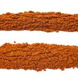 Линия изолированного красного перца cayen Стоковые Изображения RF