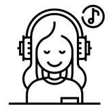Линия иллюстрация терапией музыки бесплатная иллюстрация