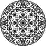 Линия искусство мандалы Стоковая Фотография RF