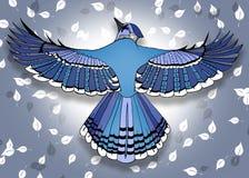 Линия искусство птицы Стоковая Фотография RF