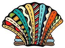 Линия искусство Seashell иллюстрация вектора