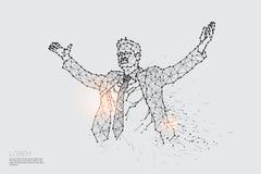 Линия и точка действие реакции bussinessman Стоковое фото RF