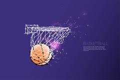 Линия и точка стрельбы баскетбола Стоковые Фото
