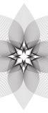 Линия иллюзия вектора лотоса Стоковая Фотография