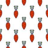 Линия картина моркови вектора значка безшовная Стоковое Изображение