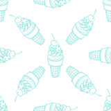 Линия картина мороженого безшовная Стоковое Фото