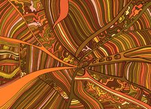 Линия картина doodle фантазии осени красочная абстрактная Стоковые Фотографии RF