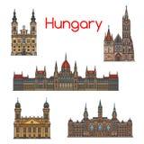 Линия комплект венгерского ориентир ориентира перемещения тонкая значка бесплатная иллюстрация