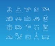 Линия комплект перемещения mono значка Стоковые Фото