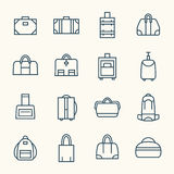 Линия комплект сумок значка Стоковое Изображение RF