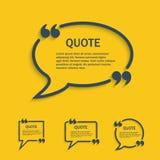 Линия комплект цитаты пузыря речи Стоковые Изображения