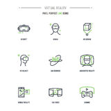 Линия комплект 9 VR значка бесплатная иллюстрация