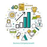 Линия концепция искусства - рост деловой компании Стоковое фото RF