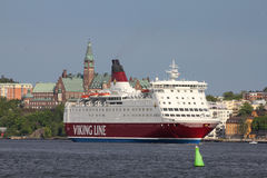 линия корабль viking парома Стоковые Изображения RF