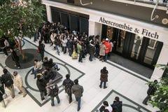 Линия, который нужно ходить по магазинам Стоковое фото RF