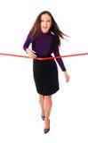 линия красный цвет коммерсантки Стоковое Изображение